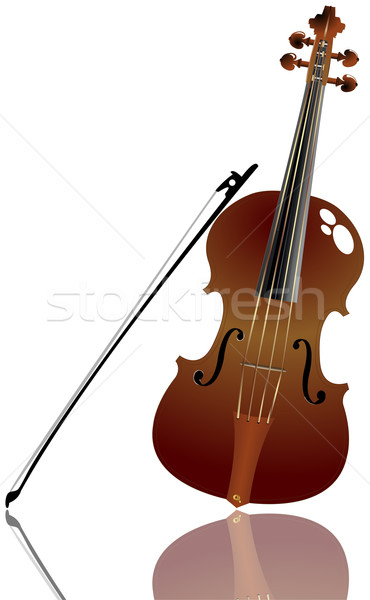 Bow and violin background Stock photo © lirch