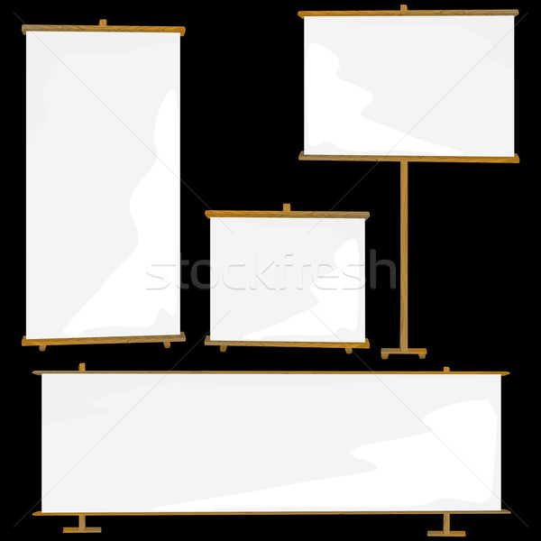 Blank roll up banners  Stock photo © lirch