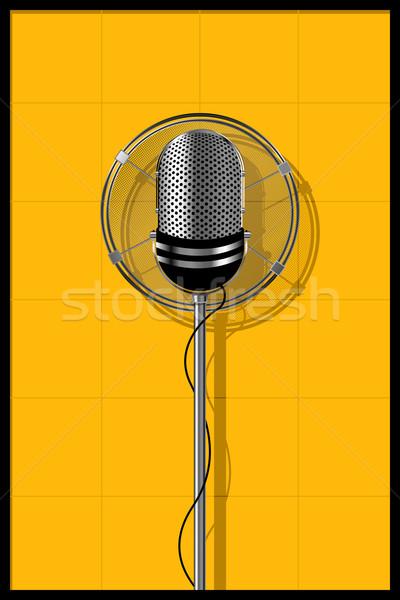 Microfone projeto ilustração velho música quadro Foto stock © lirch