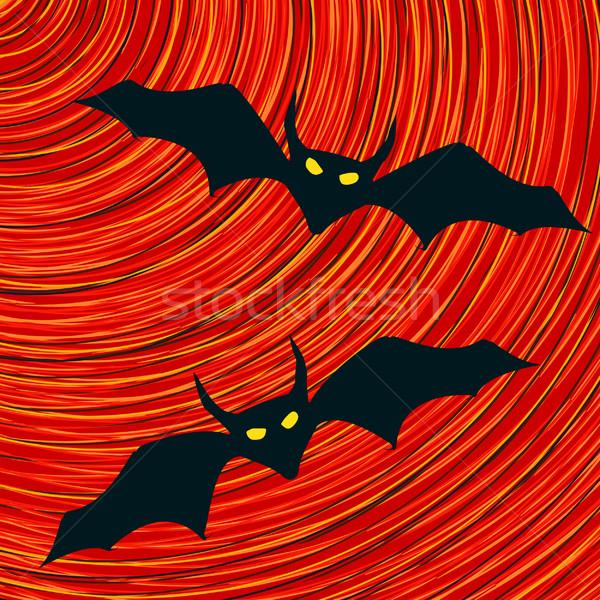 Bat icon halloween vector icon textuur partij Stockfoto © lirch