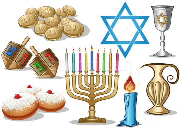 Hanukkah Symbols Pack Stock photo © LironPeer