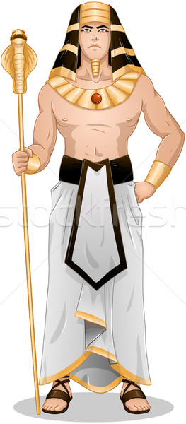 Egyptian Pharaoh Standing For Passover Stock photo © LironPeer
