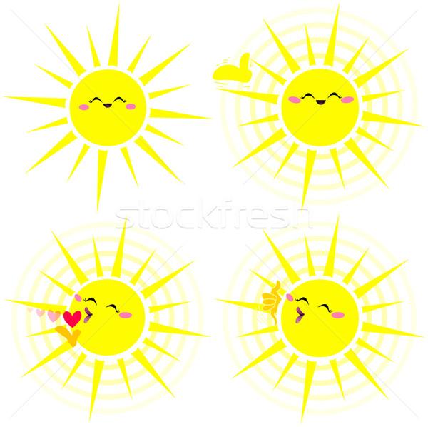 Shining Happy Yellow Sun Pack Stock photo © LironPeer