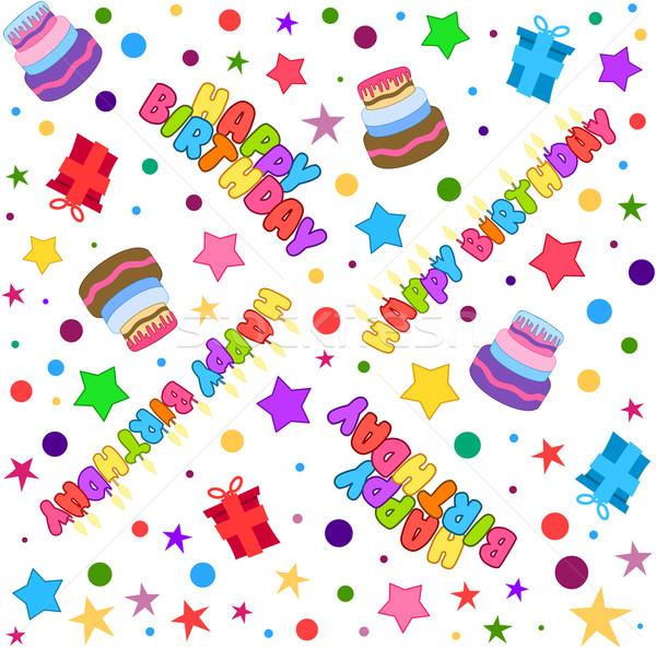 Happy Birthday Pattern Colorful Stock photo © LironPeer