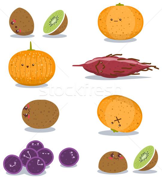 Engraçado frutas diversão empacotar uvas batata doce Foto stock © LironPeer