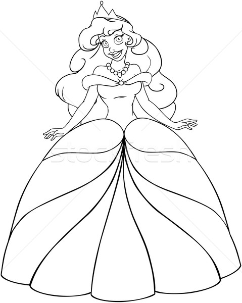 African Princess Coloring Page Stock photo © LironPeer