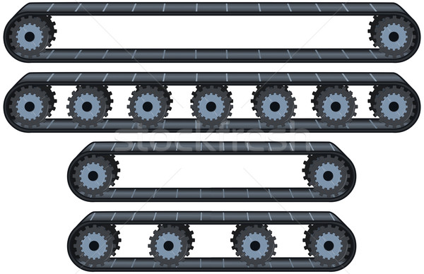 Conveyor Belt With Wheels Pack Stock photo © LironPeer