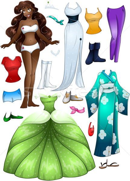 Stock photo: African American Girl Princess Dress Up