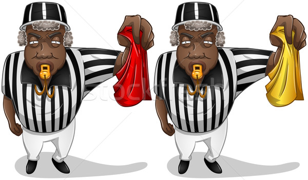 Football Referee with Flag and Whistle Stock photo © LironPeer