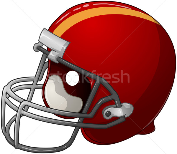 Red Football Helmet Stock photo © LironPeer