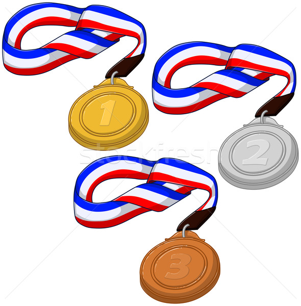 First Second and Third Place Medals Pack Stock photo © LironPeer