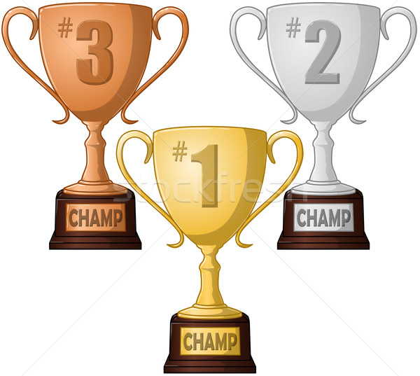 Stock photo: First Second and Third Place Trophy Pack