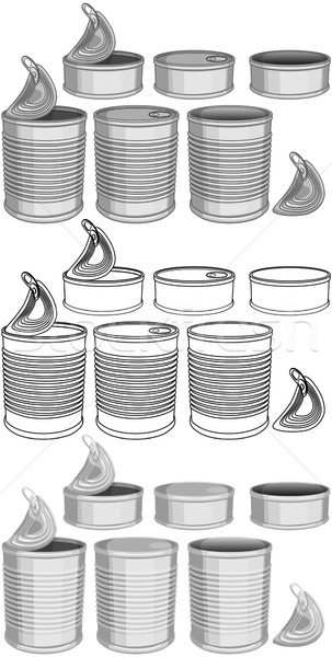 Canned Food Cans Pack Stock photo © LironPeer