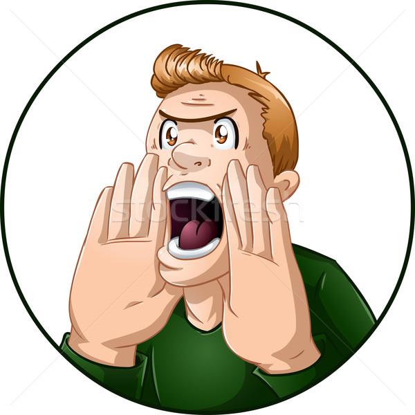 Angry Man Shouts Stock photo © LironPeer