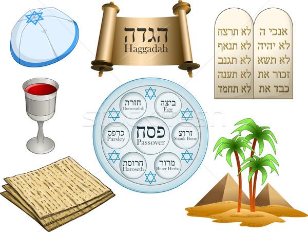 Passover Symbols Pack Stock photo © LironPeer
