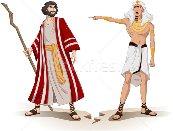 Pharaoh Sends Moses Away For Passover Stock photo © LironPeer