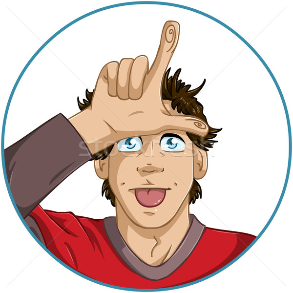 Guy Shows Loser Signal With His Fingers Stock photo © LironPeer