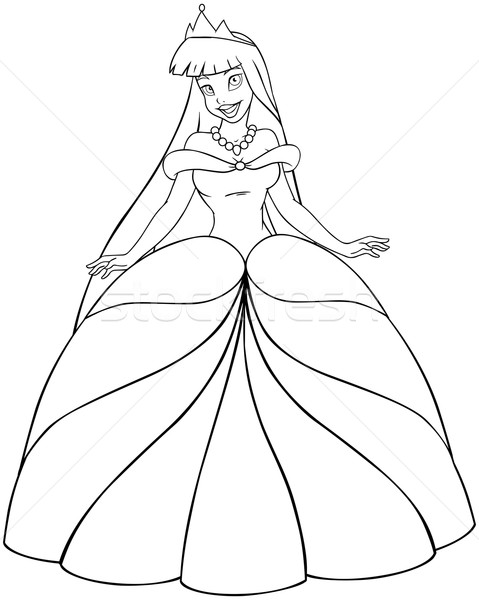 Asian Princess Coloring Page Stock photo © LironPeer