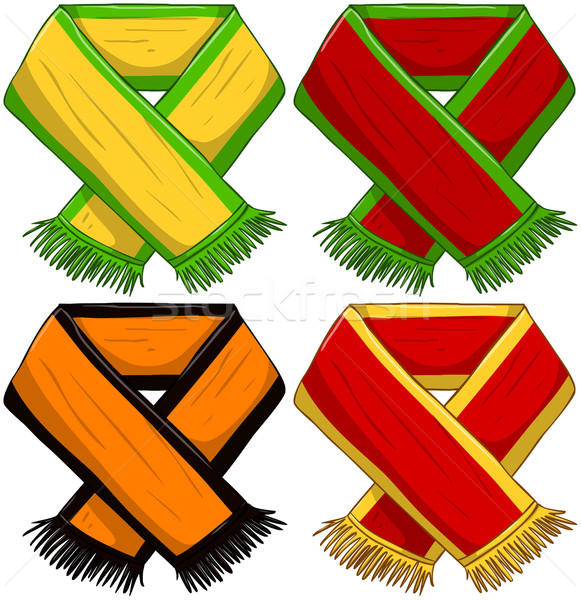 Equipo deportivo bufanda Pack vector ilustraciones famoso Foto stock © LironPeer