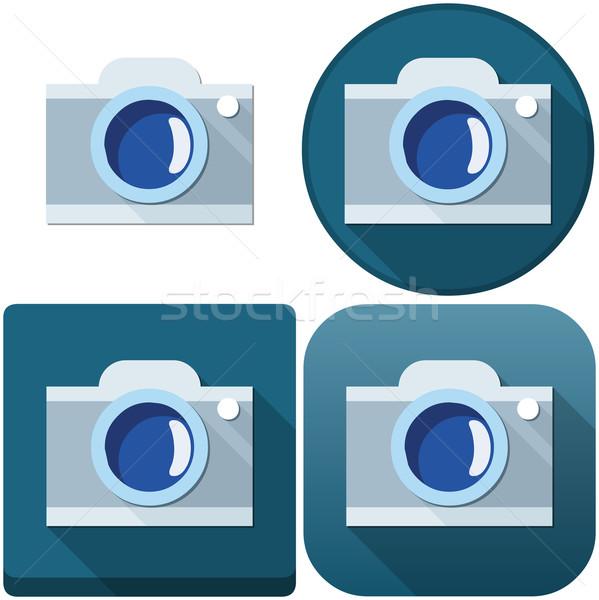 Câmera ícone empacotar ícones andróide telefone Foto stock © LironPeer