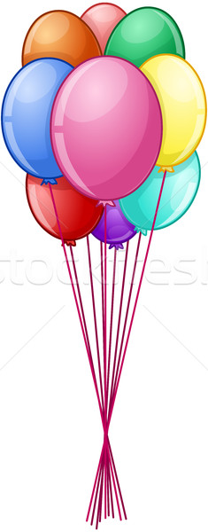 Colorful Balloons On String Stock photo © LironPeer
