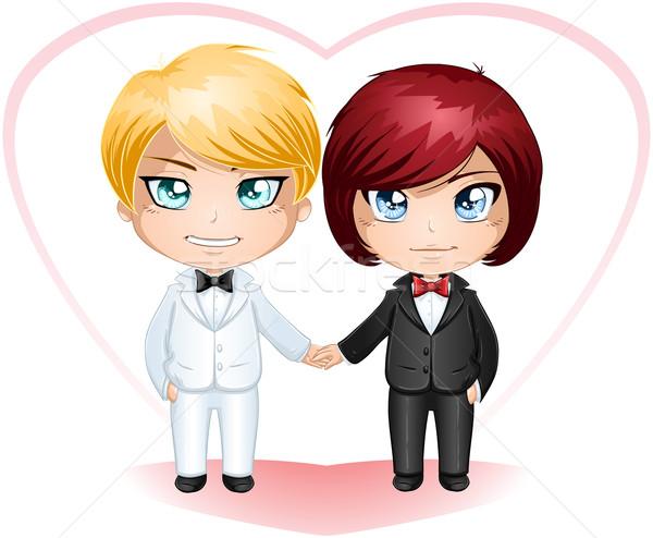 Gay Grooms Getting Married 3 Stock photo © LironPeer