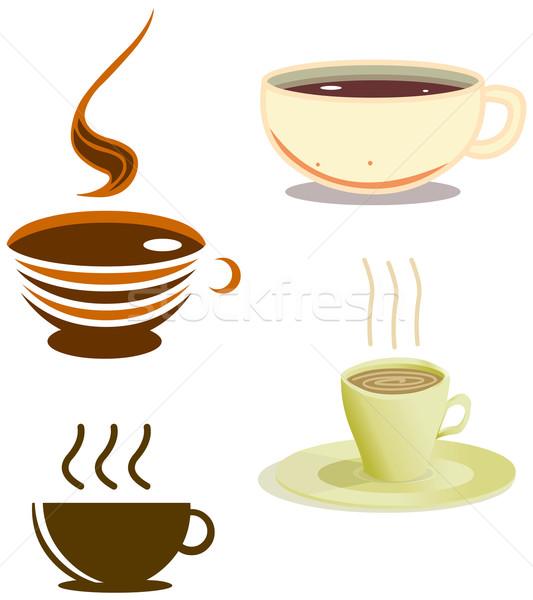 кофейные чашки Pack вектора различный Стили Сток-фото © LironPeer