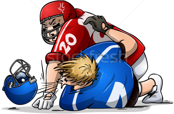 Stock photo: Football Players Fight and Punch