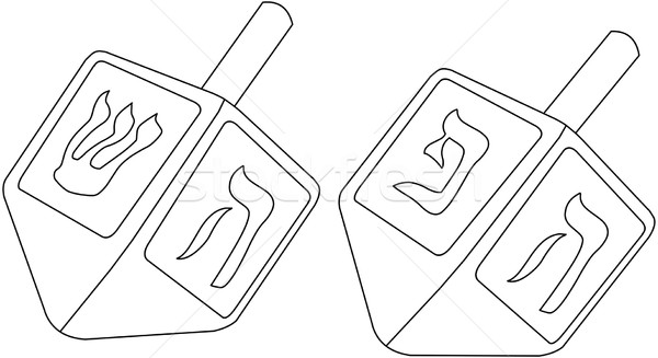 Hanukkah Dreidel Coloring Page Stock photo © LironPeer