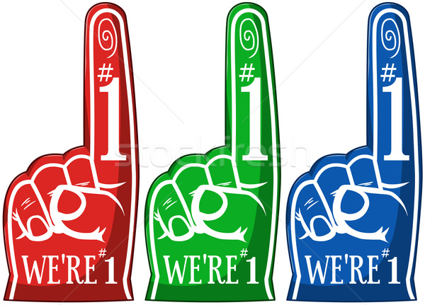Cheering Pointing Finger Three Colors Pack Stock photo © LironPeer