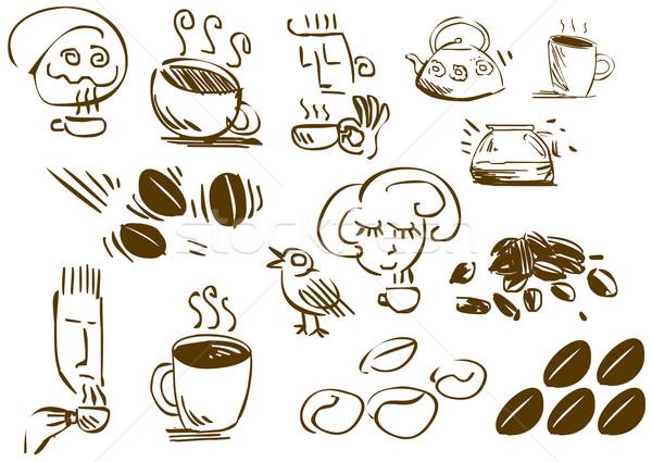 Coffee Doodles Stock photo © LironPeer