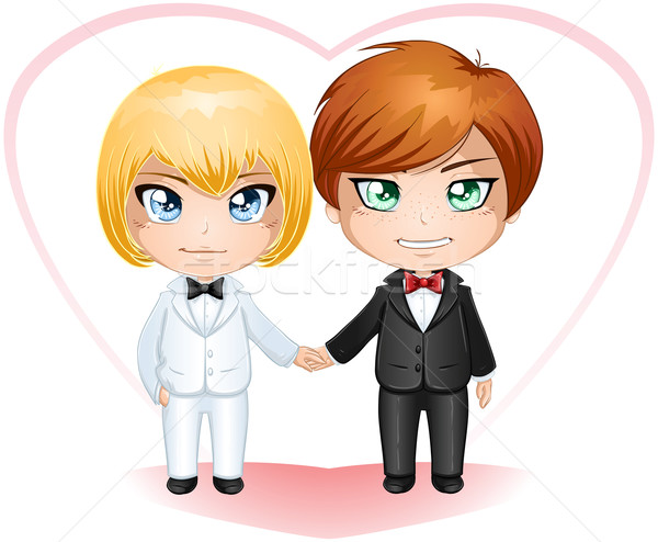 Gay Grooms Getting Married 2 Stock photo © LironPeer
