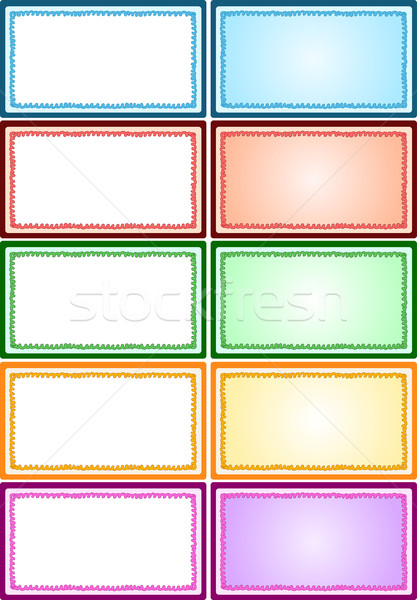 Colorful Frames Pack Stock photo © LironPeer