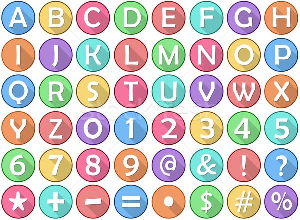 алфавит номера школы веб Сток-фото © LironPeer