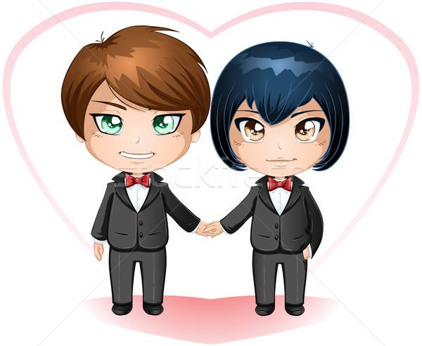 Gay Grooms Getting Married Stock photo © LironPeer