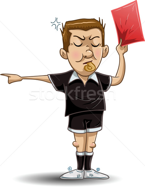 Soccer Referee Holds Red Card Stock photo © LironPeer