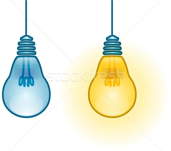 Lightbulb Turned On and Off Stock photo © LironPeer