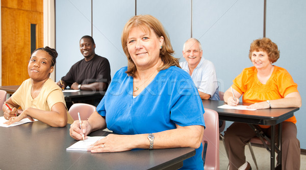 Mature Woman in College Stock photo © lisafx