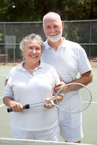 Senior Tennis Players  Stock photo © lisafx