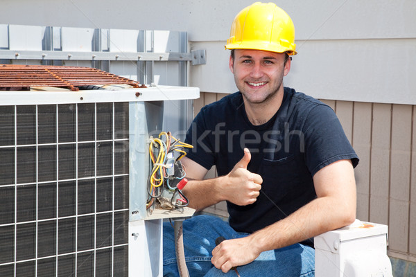 Air Condioner Repairman Thumbsup Stock photo © lisafx