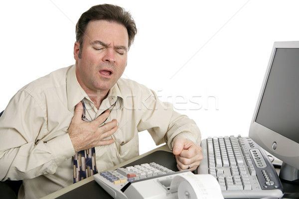 Stock photo: Chest Pain at Work