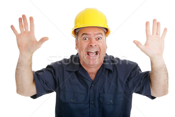 Construction Worker Terrified Stock photo © lisafx