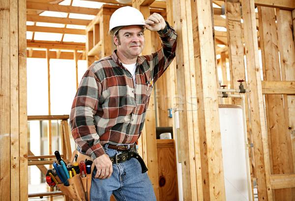 Bouwvakker plaats tools authentiek bouwplaats gebouw Stockfoto © lisafx