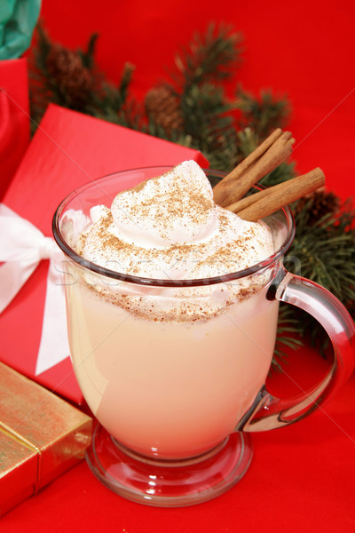 Festive Christmas Eggnog Stock photo © lisafx