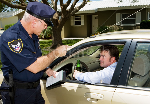 Police - Drunk Driving Stock photo © lisafx