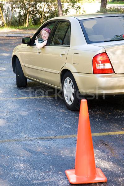 Teen Driving Test Thumbsup Stock photo © lisafx