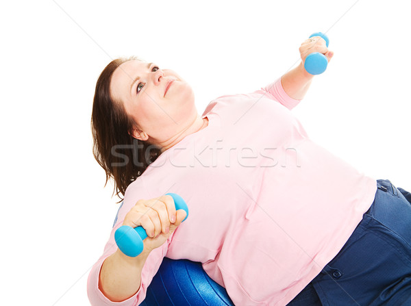Femme pilates joli embonpoint forme Photo stock © lisafx