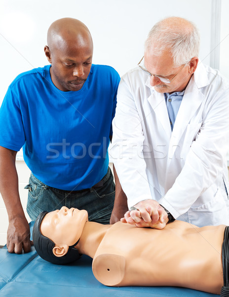 Adult Education - CPR Hands On Stock photo © lisafx