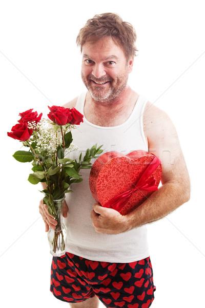 Scruffy Valentines Guy in Underwear Stock photo © lisafx