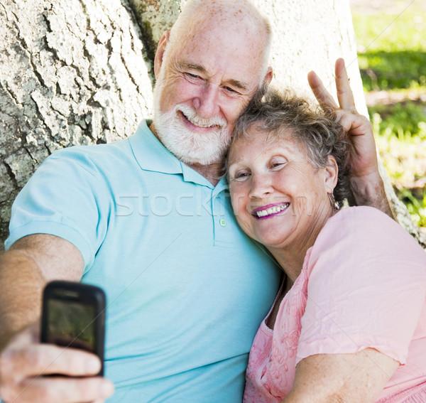 Seniors - Fun Self-Portrait Stock photo © lisafx